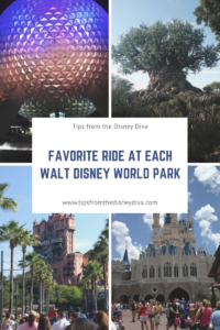 Favorite Ride at Each Walt Disney World Park