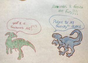Have fun while you wait for your food at Restaurantosaurus