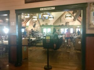 Order your gourmet burger at Animal Kingdom's Restaurantosaurus
