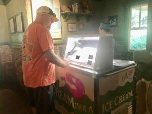 Pick your ice cream flavor at Restaurauntosaurus Gourmet Burgers and Sundaes