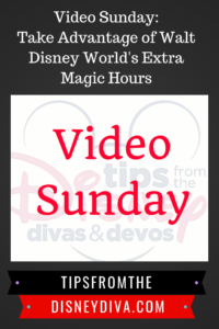 Video Sunday: Take Advantage of Walt Disney World Extra Magic Hours