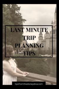 Last Minute Walt Disney World Trip Planning Tips