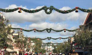 Main Street, USA Disneyland Holiday Time