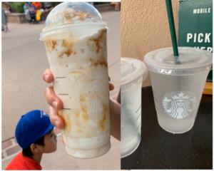 Starbucks, Starbucks drink, Snack Credit Drinks, Snack Credit, Snacks, Walt Disney World Starbucks, Free Ice Water,