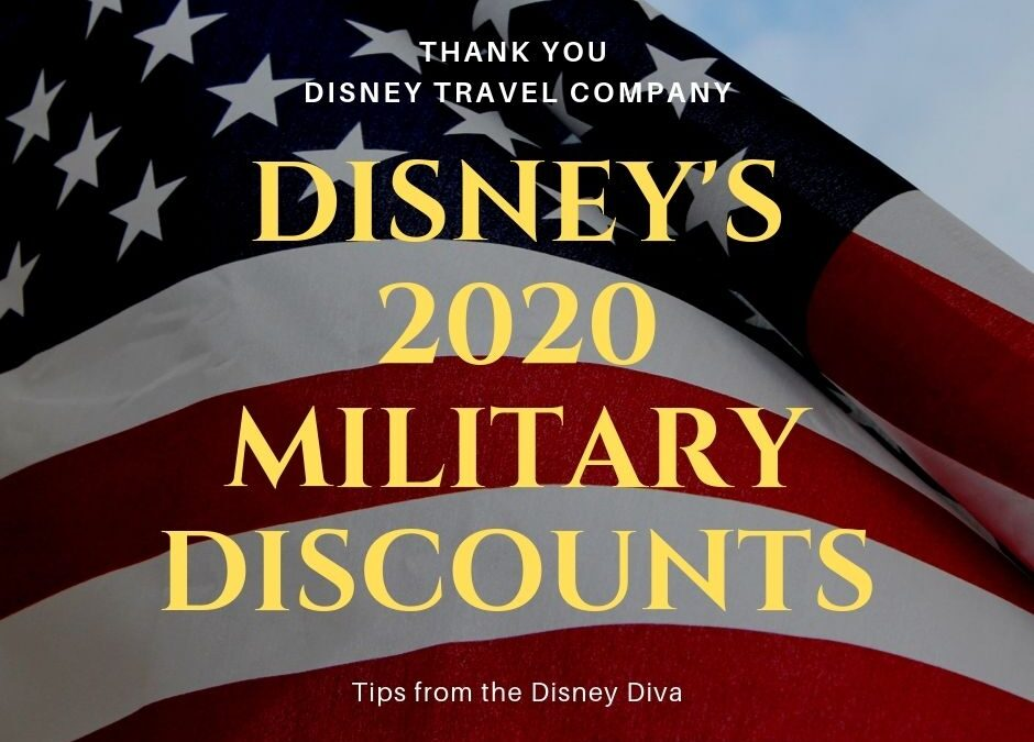 Disney's Military Discounts – Now Available for 2020 Dates of Travel!