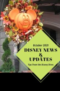Disney Travel Company News & Updates - October 2019