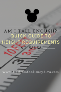 Height Requirements at WDW