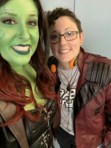 Gamora-Star-Lord-Guardians-of-the-Galaxy-cosplay-costume-selfie