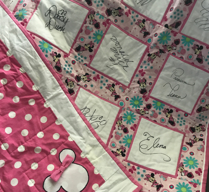 Disney Autograph Quilt – It's Like Getting a Hug Every Day from Your Favorite Characters