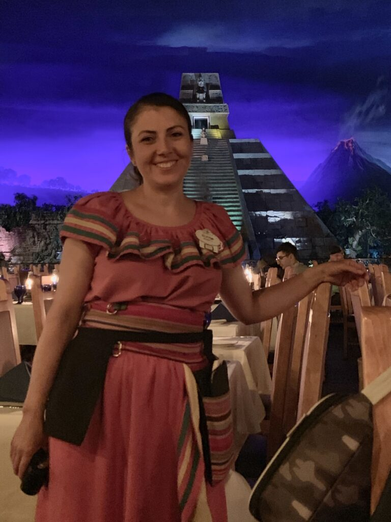 Cast Member Eleyna at San Angels Inn, Epcot World Showcase, Walt Disney World, Mexico Pavilion, Disney Dining, Mexican Cuisine, Allergy Friendly