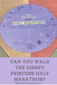 Can you walk the Disney Princess Half Marathon