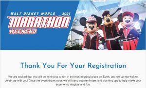 runDisney Marathon Registration