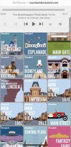 Sounds of the Disneyland Resort website