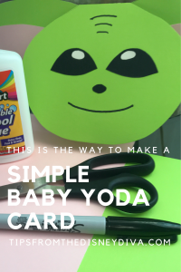 This is the Way to Make a Simple Baby Yoda Card