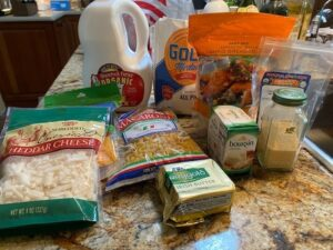 Gourmet Mac and Cheese Ingredients
