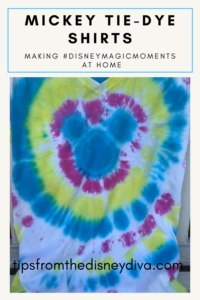Mickey Tie-Dye Shirts - Making #DisneyMagicMoments at Home