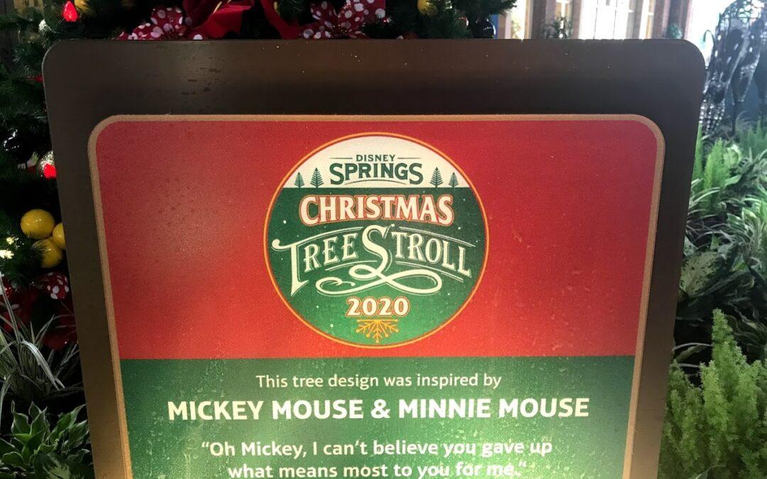 Disney Springs Christmas Tree Stroll 2020