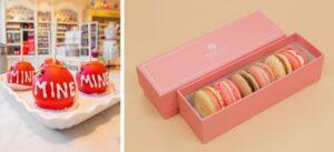 Be Mine Apple and Kayla's Cake macarons