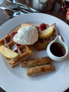 Sour Cream Waffle at Topolino's Terrace