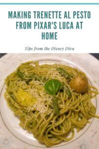 Making Trenette al Pesto from Pixar's Luca at Home